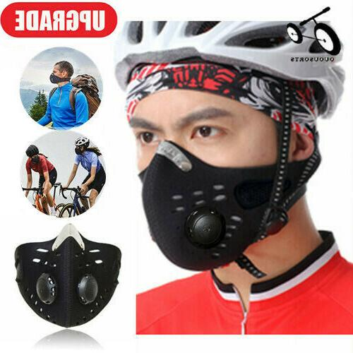 reusable activated carbon sport cycling half face