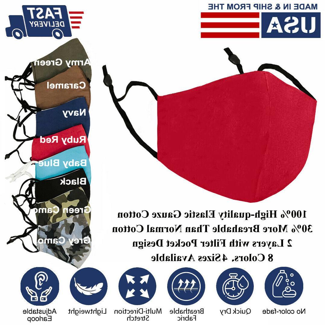 Face Mask S/M/L/XL Adjustable Cotton