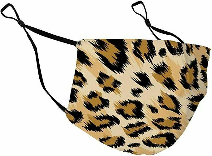 Face Mask Reusable Cover Cloth Zebra Cheetah