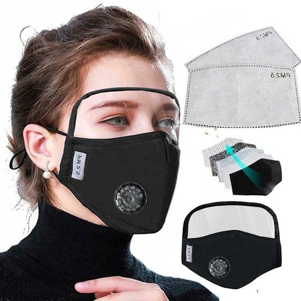 Face Mask w. Shield Face Pollution