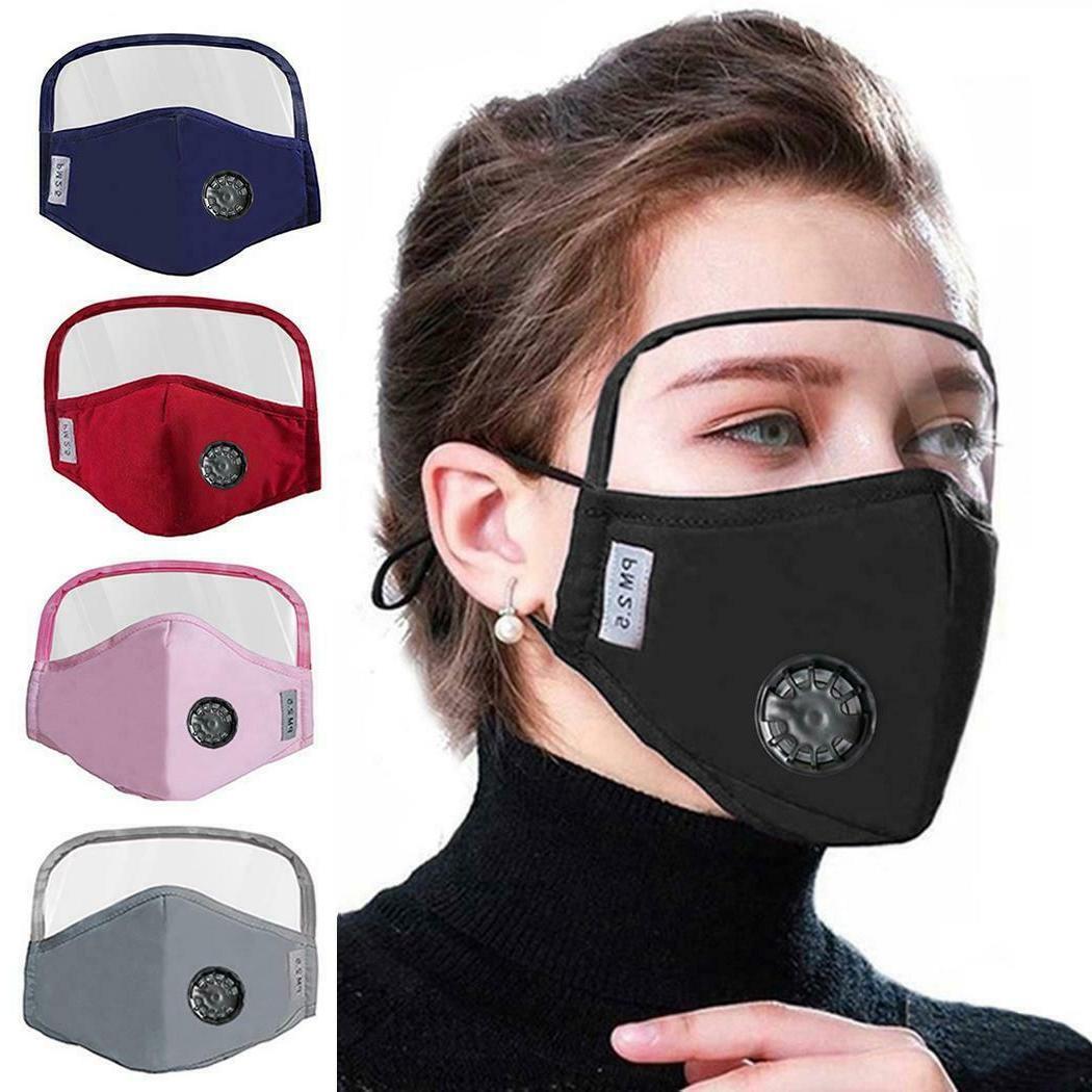 Face Mask w. Eyes Shield Reusable Face