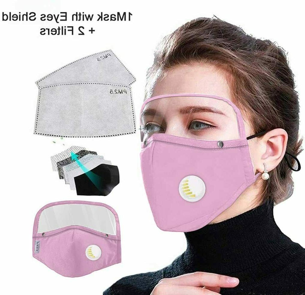 Face Mask w. Eyes Shield Reusable Washable Face Shield