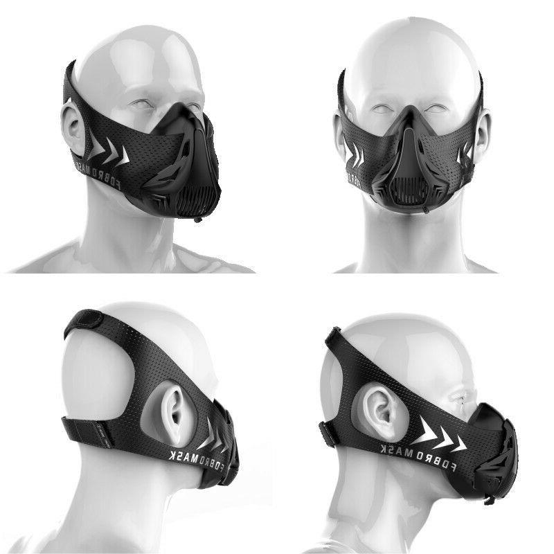 FDBRO Workout Training Running Cycling Sport Mask Oxygen Res