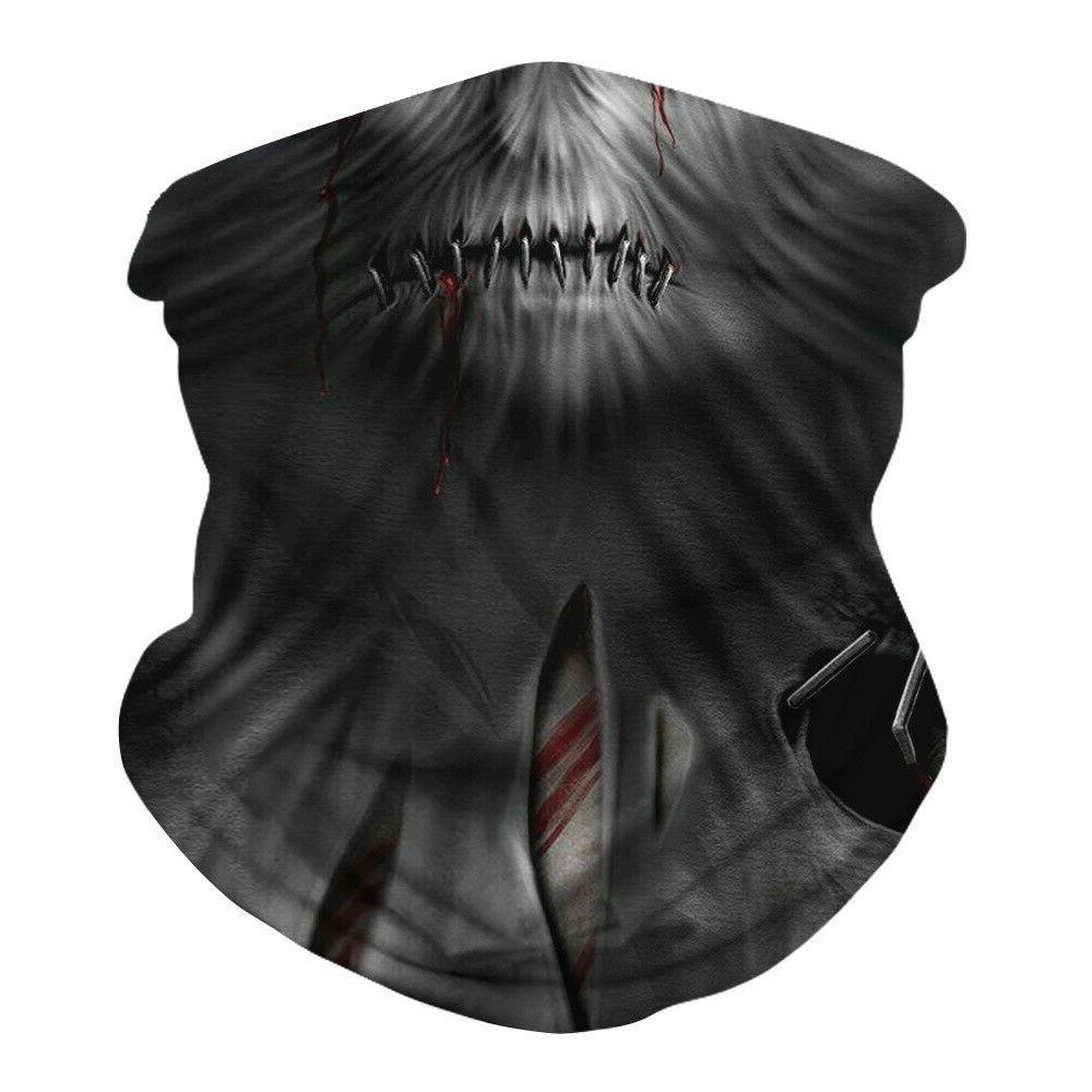 Halloween Face Breathable Neck Gaiter Reusable Headband