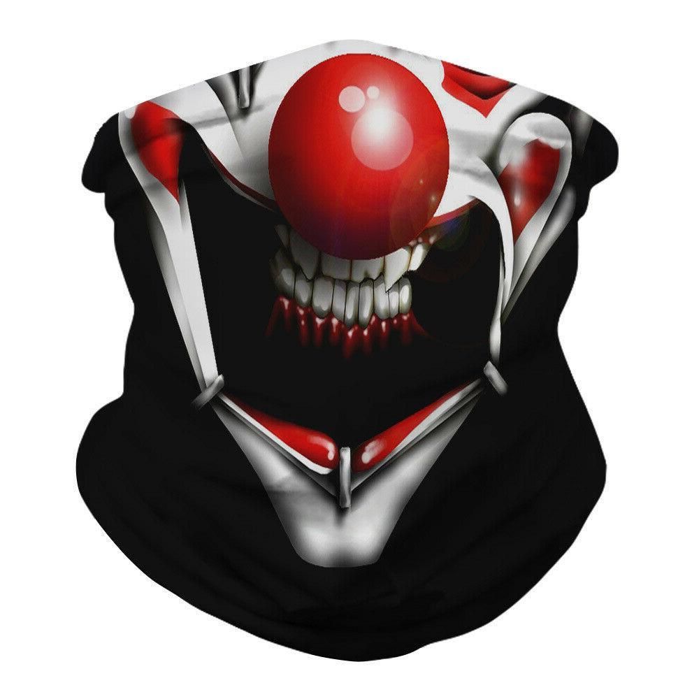Halloween Face Mask Bandana Breathable Neck Gaiter Balaclava Reusable Headband