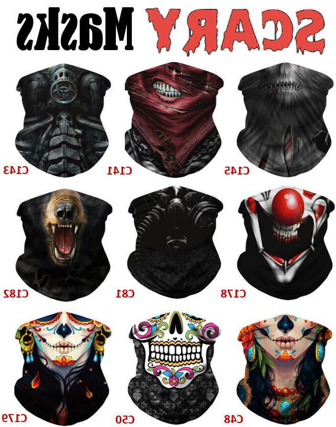 halloween face mask bandana breathable neck gaiter