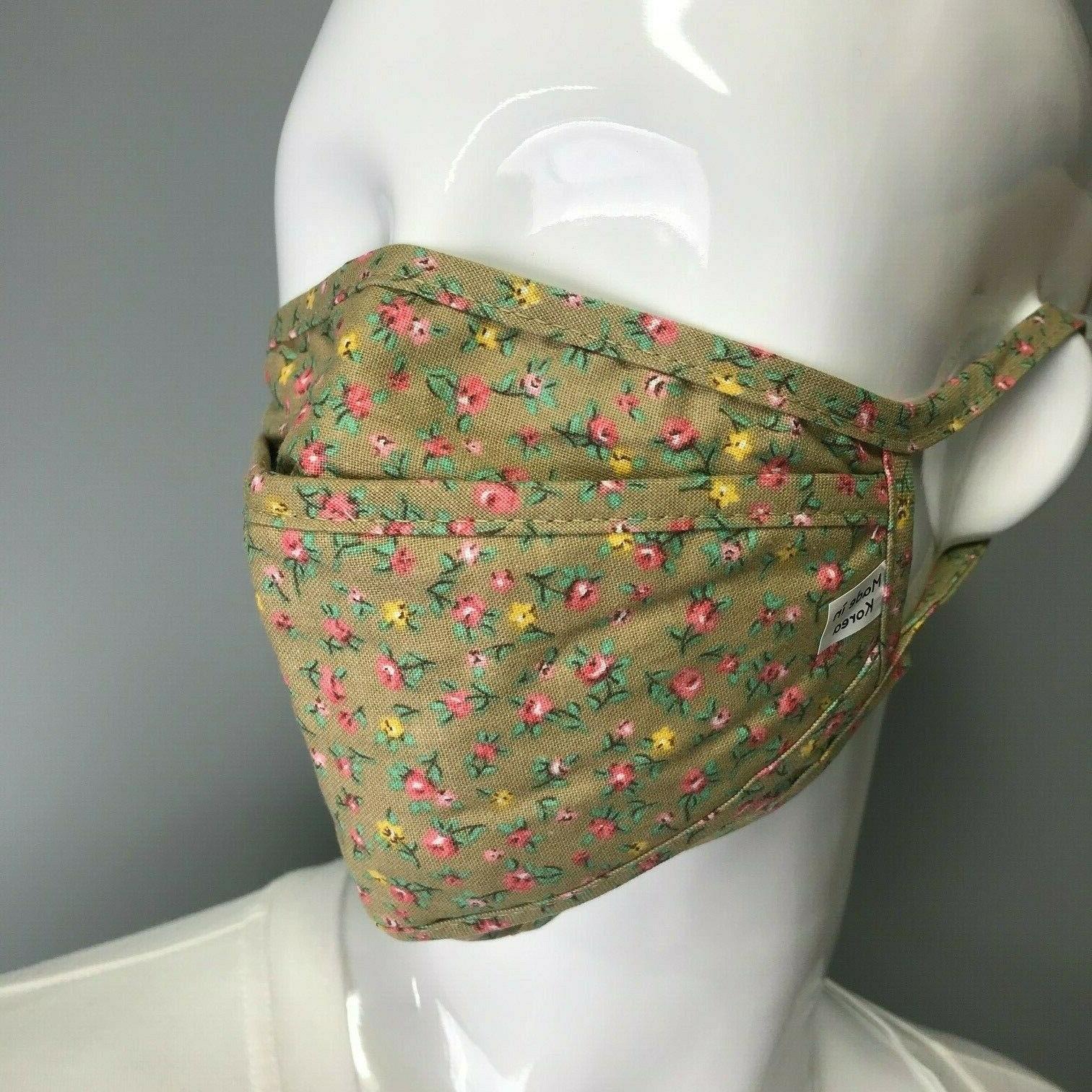 Handmade in Face Masks Filter pocket, Shape kf94, Washable-