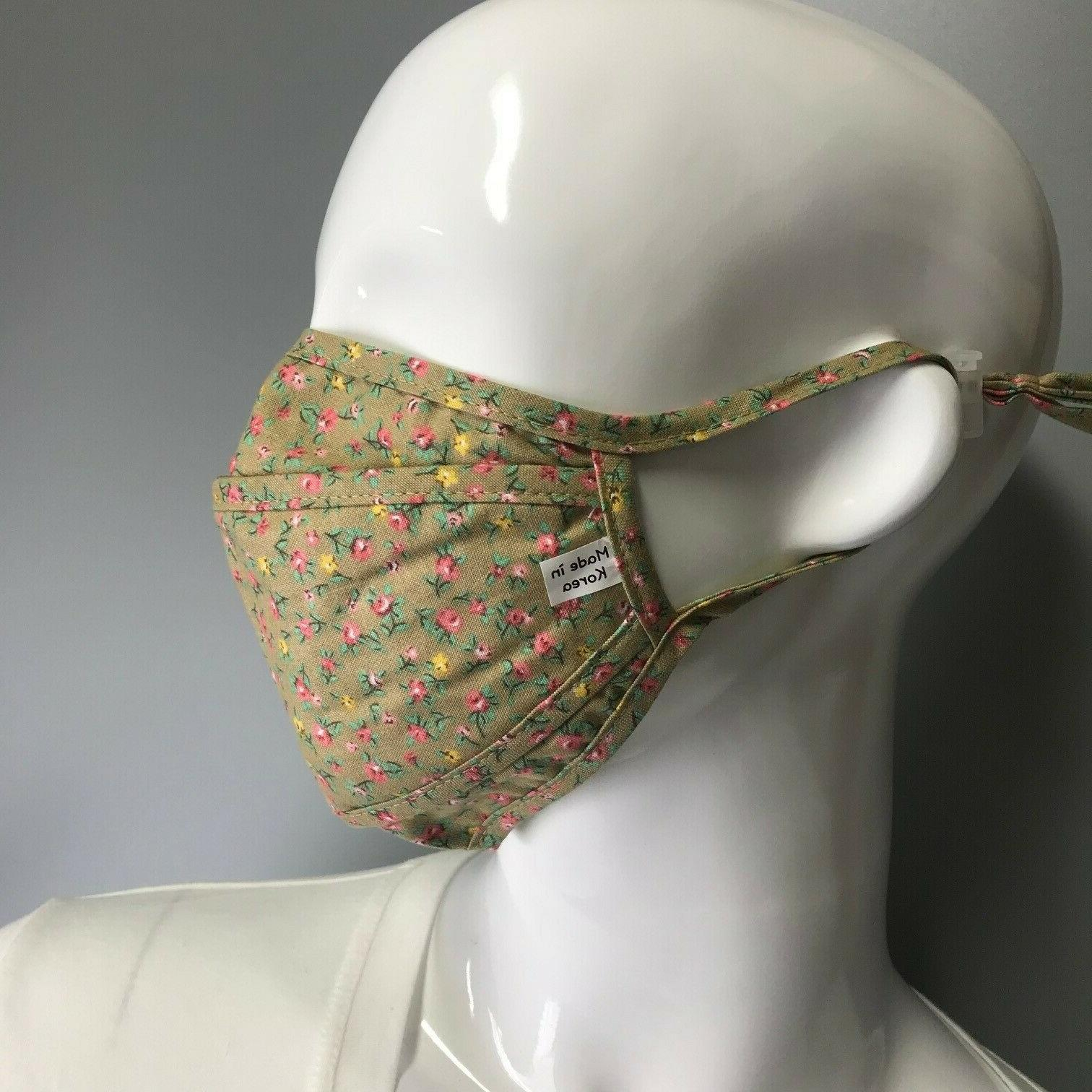 in korea fabric face masks filter pocket