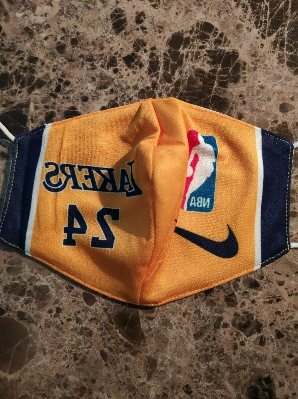 Lakers Face Mask Pocket
