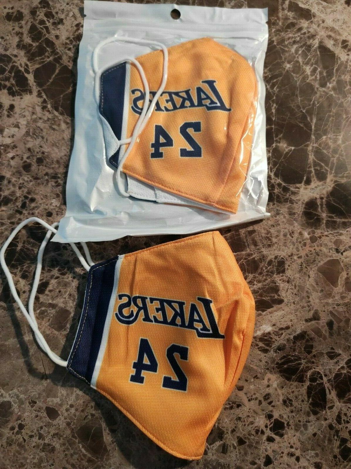 Lakers #24 NBA Basketball Face with Pocket New Polyester