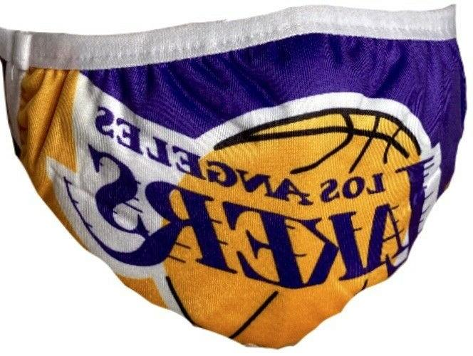 los angeles lakers face mask washable reusable