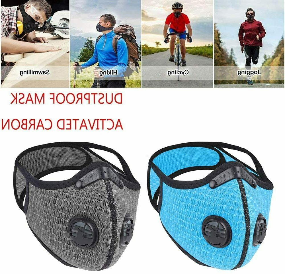 Mask with Carbon Filters Sports Mask Adjustable Breathable
