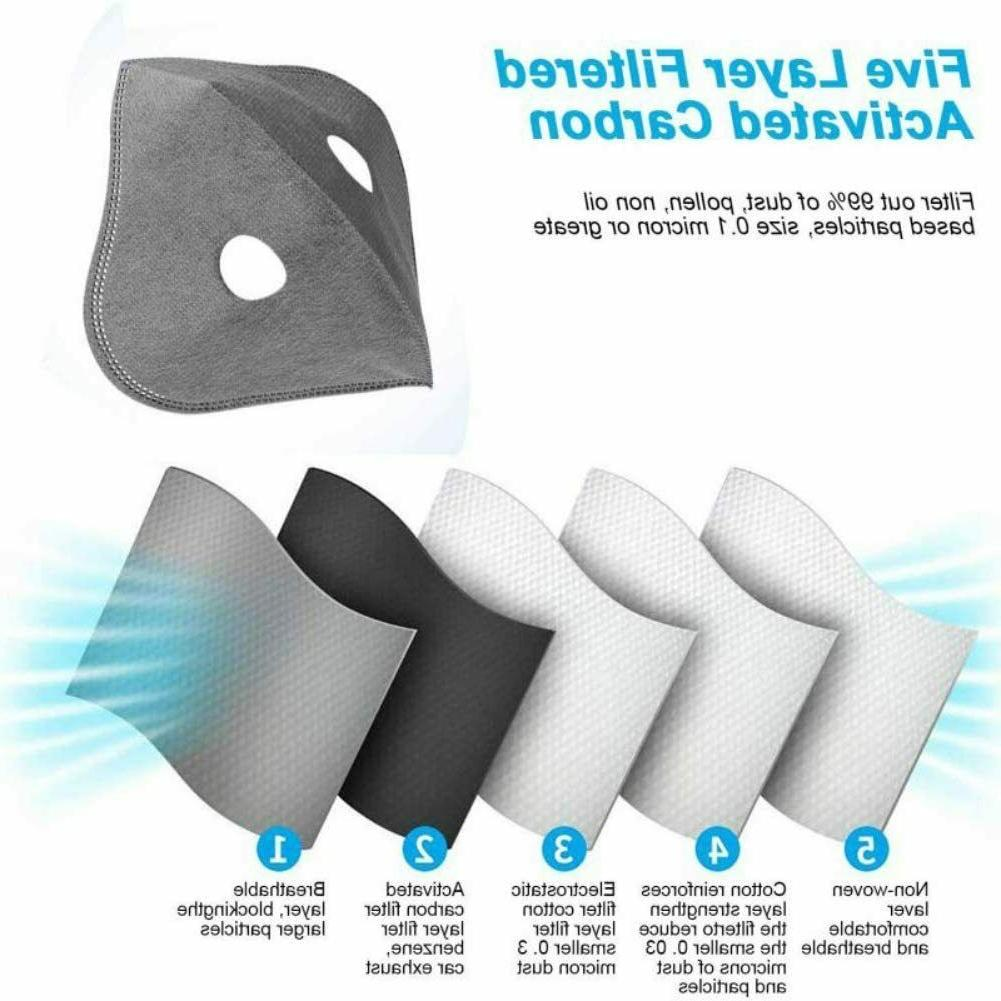 Carbon Mask Adjustable Breathable US