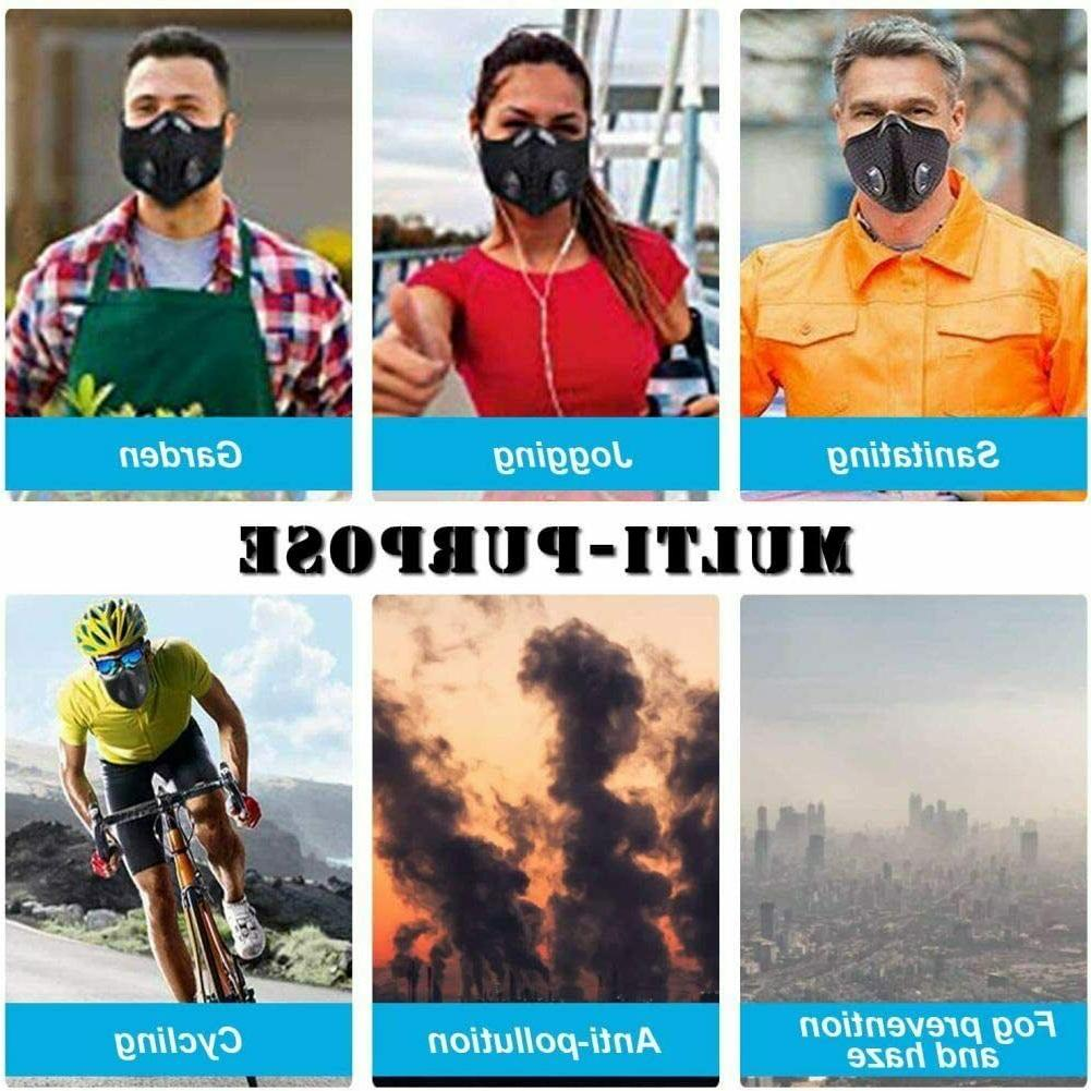 Mask Reusable with Carbon Sports Mask Adjustable Breathable