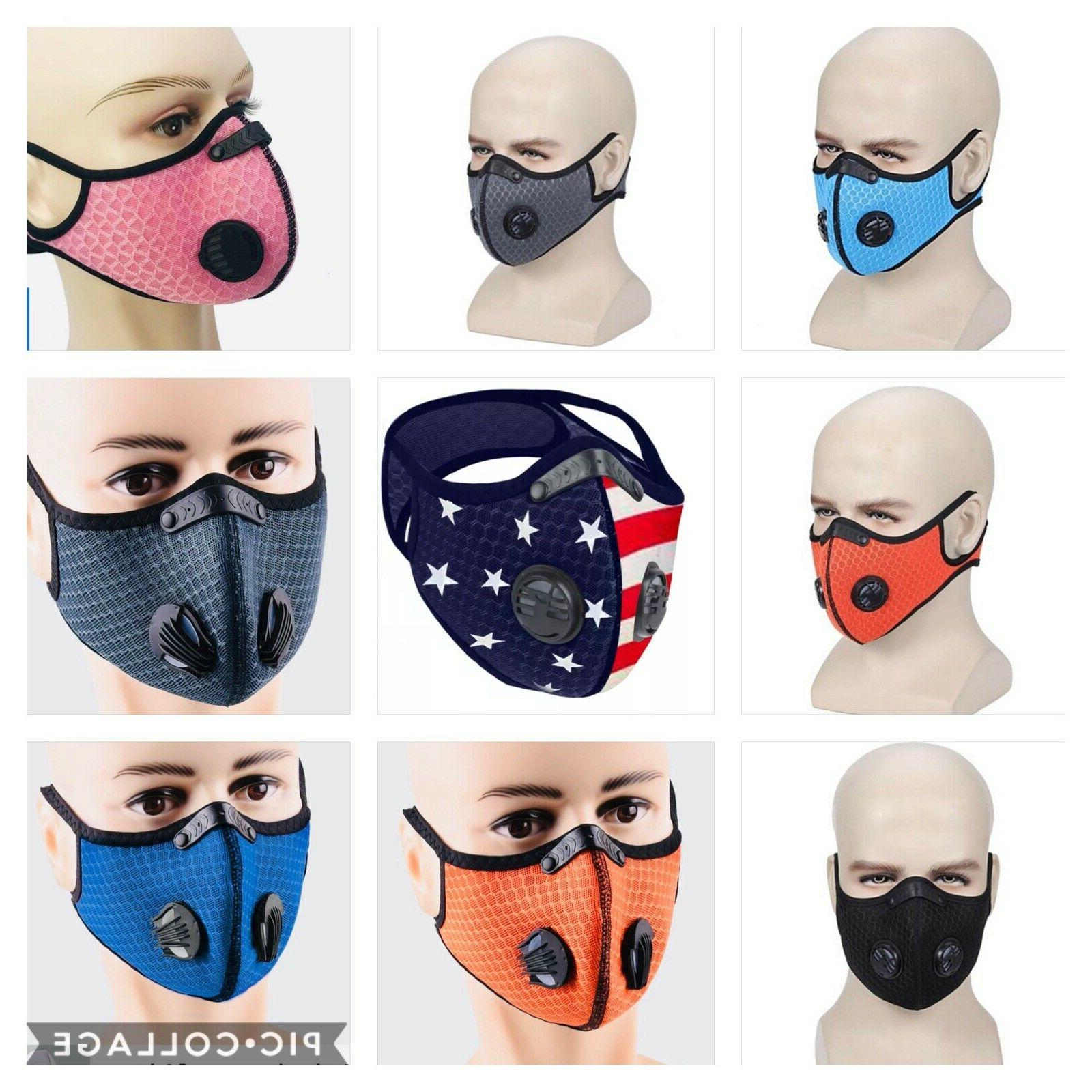 mask reusable with activated carbon filters sports
