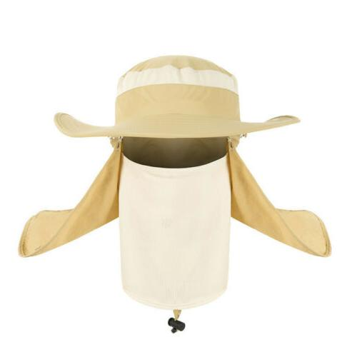 Men Unisex Hat Neck Flap Anti Summer Fishing Caps
