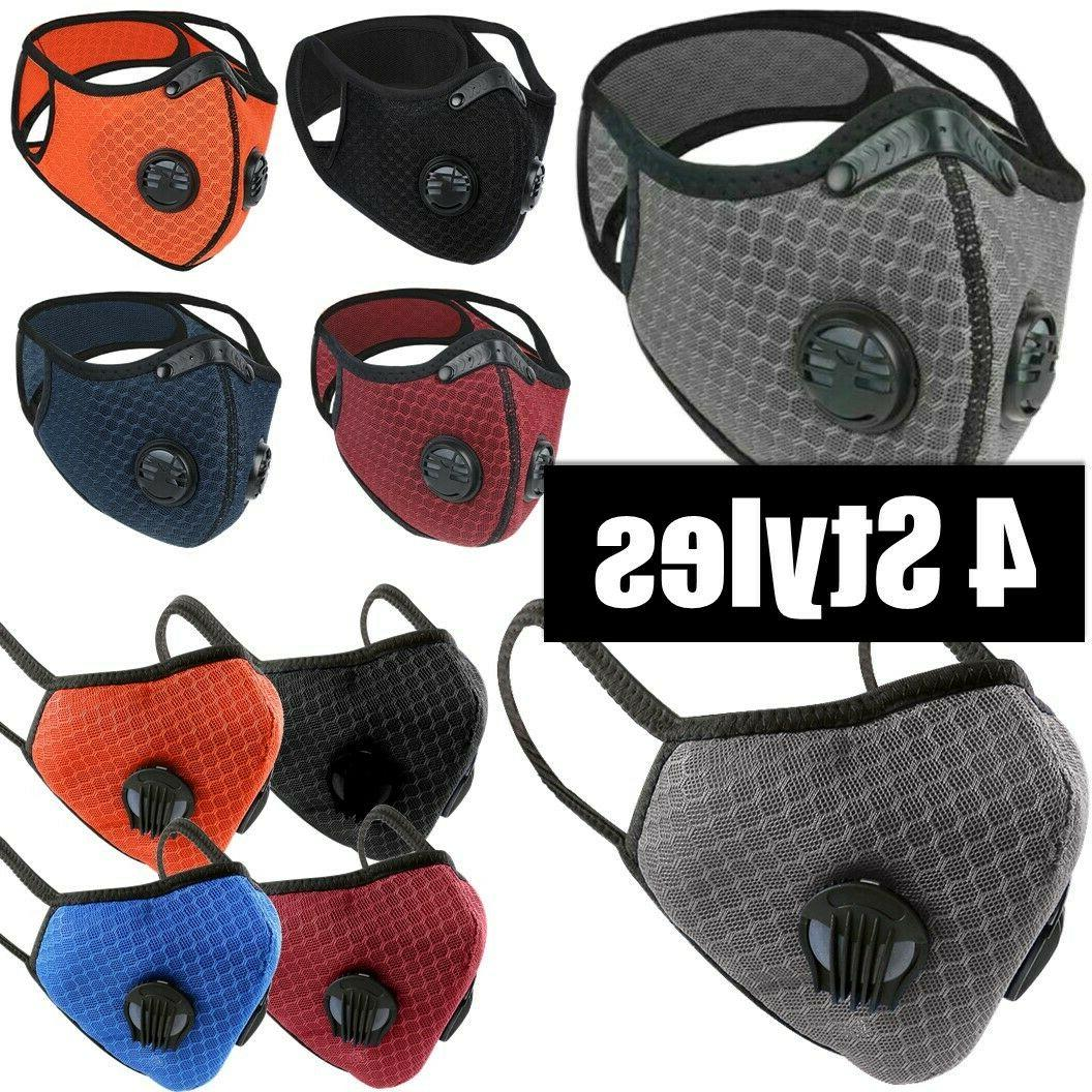 mesh dual air valves reusable cycling face
