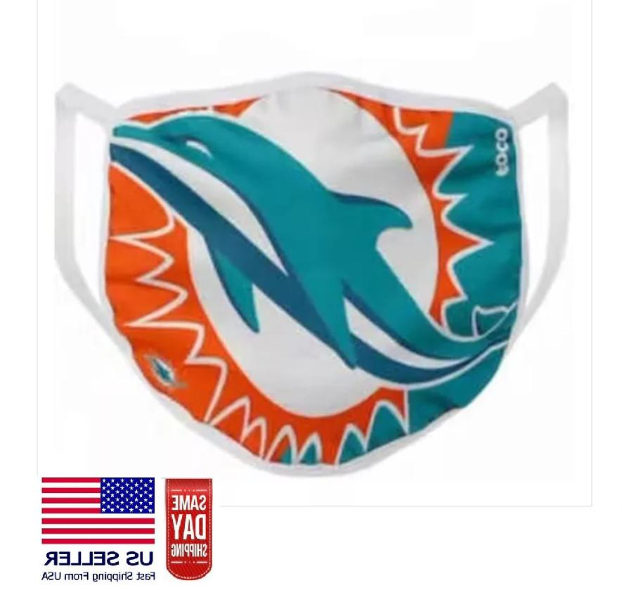 miami dolphins face mask washable filter slot