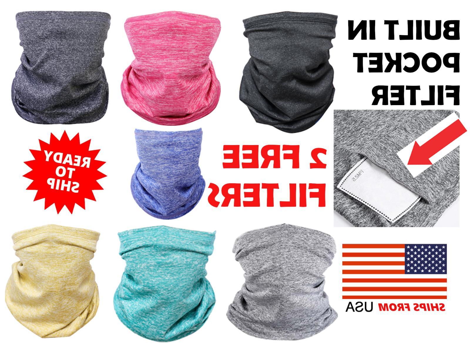 neck gaiter with filter pm2 5 bandana