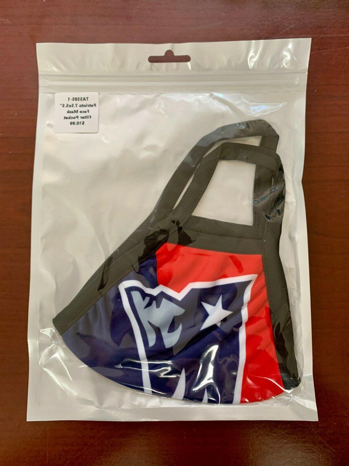New England Face Mask Stretch NFL Ship Seller