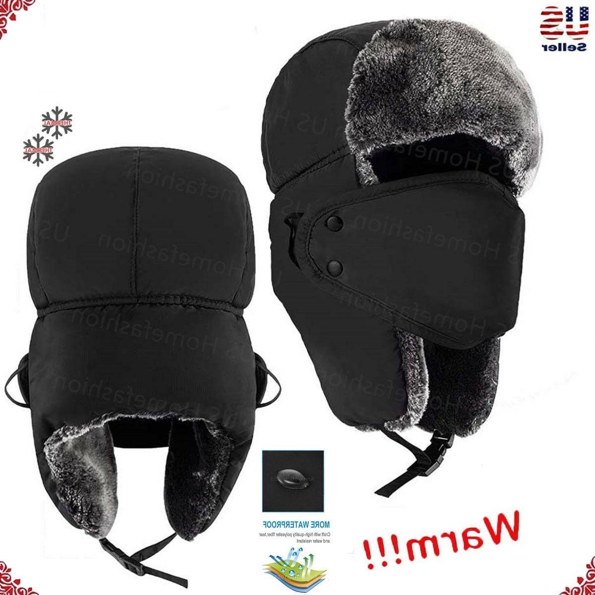 new mens winter warm russian hat trooper
