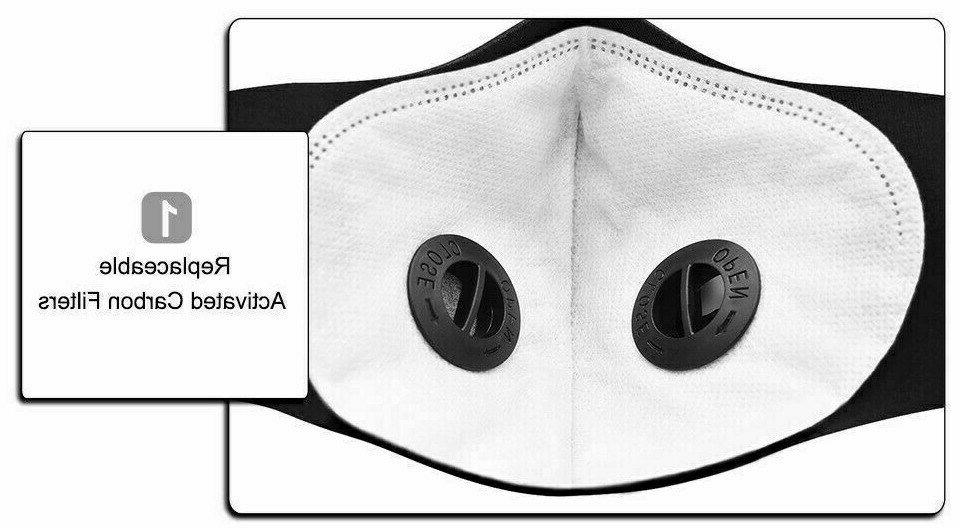 NEW style Cycling Mask Active Carbon Filter Reusable