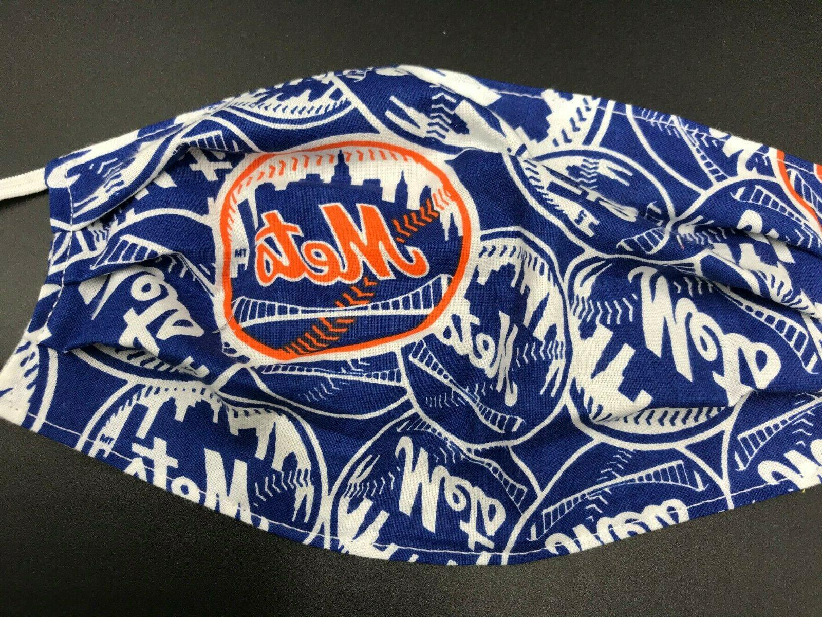 new york mets baseball washable reusable face