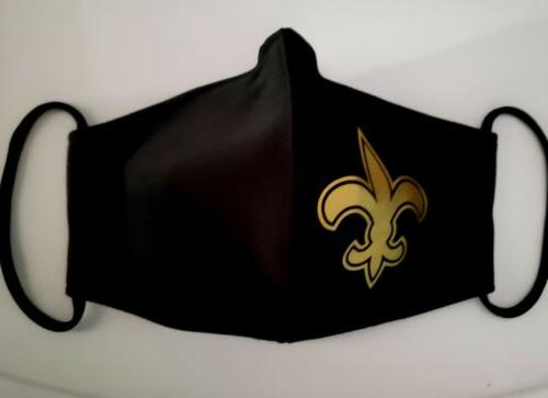 NFL Saints Face Fabric Washable, Reusable Made In USA