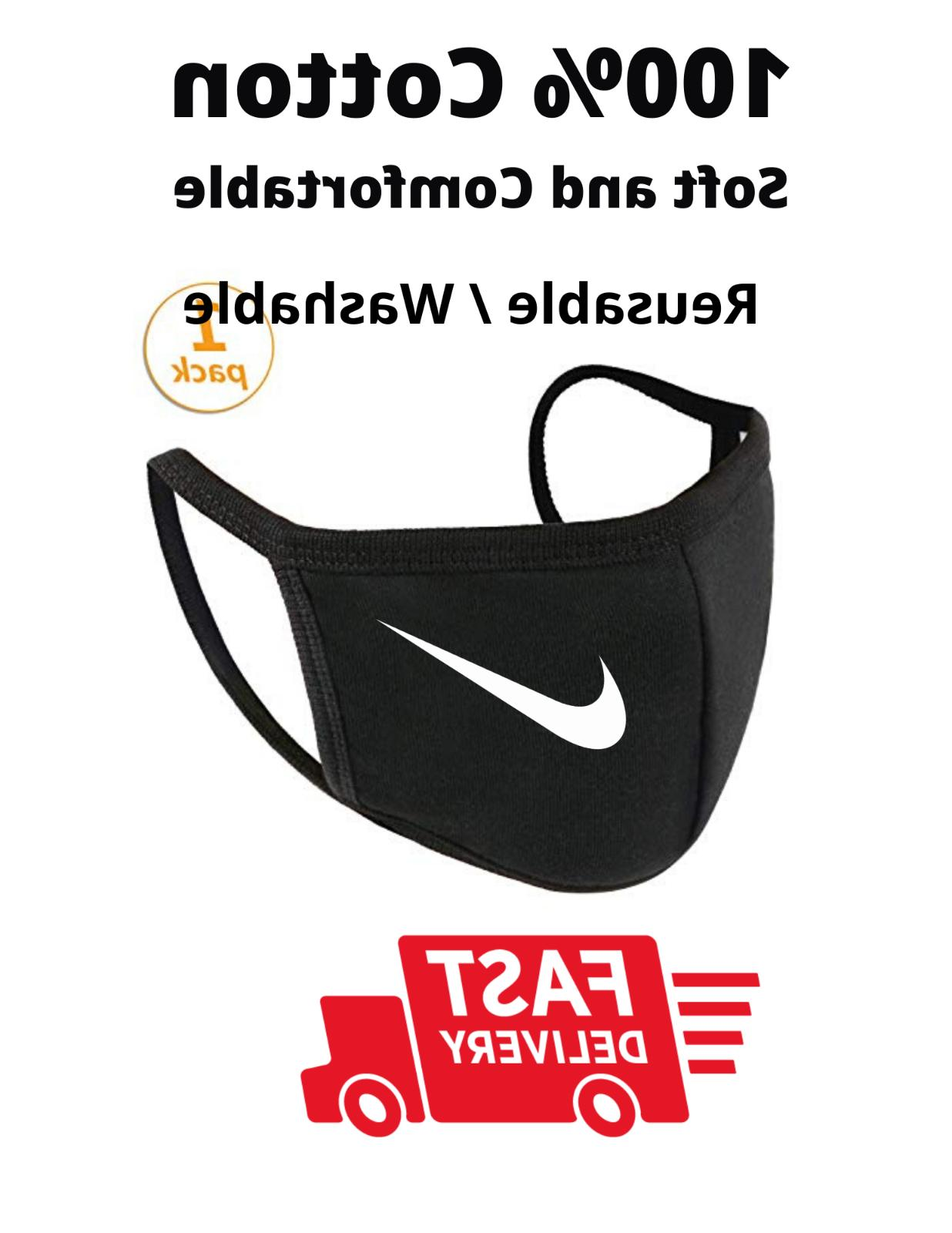 Nike W- BLK Mask with Reusable Soft Cotton
