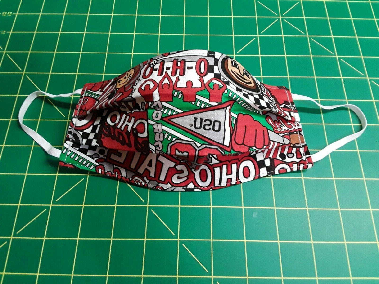 ohio state face mask osu pop art
