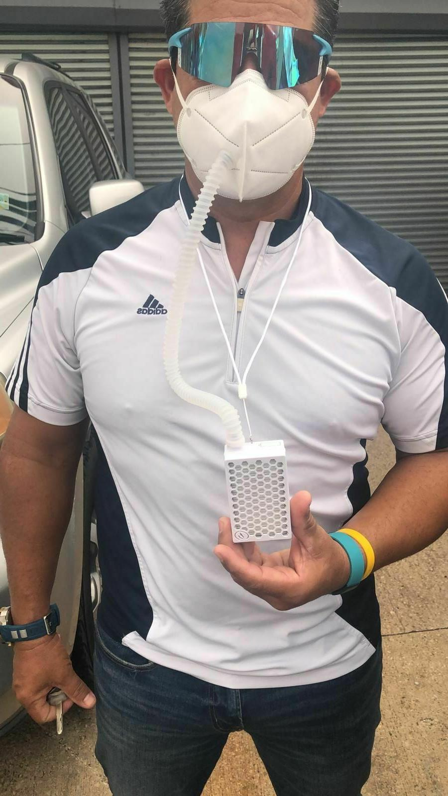 Oxygen Ventilator Sports Mask, 3-Speed Air Purifier