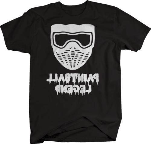 paintball legend mask sports tshirt