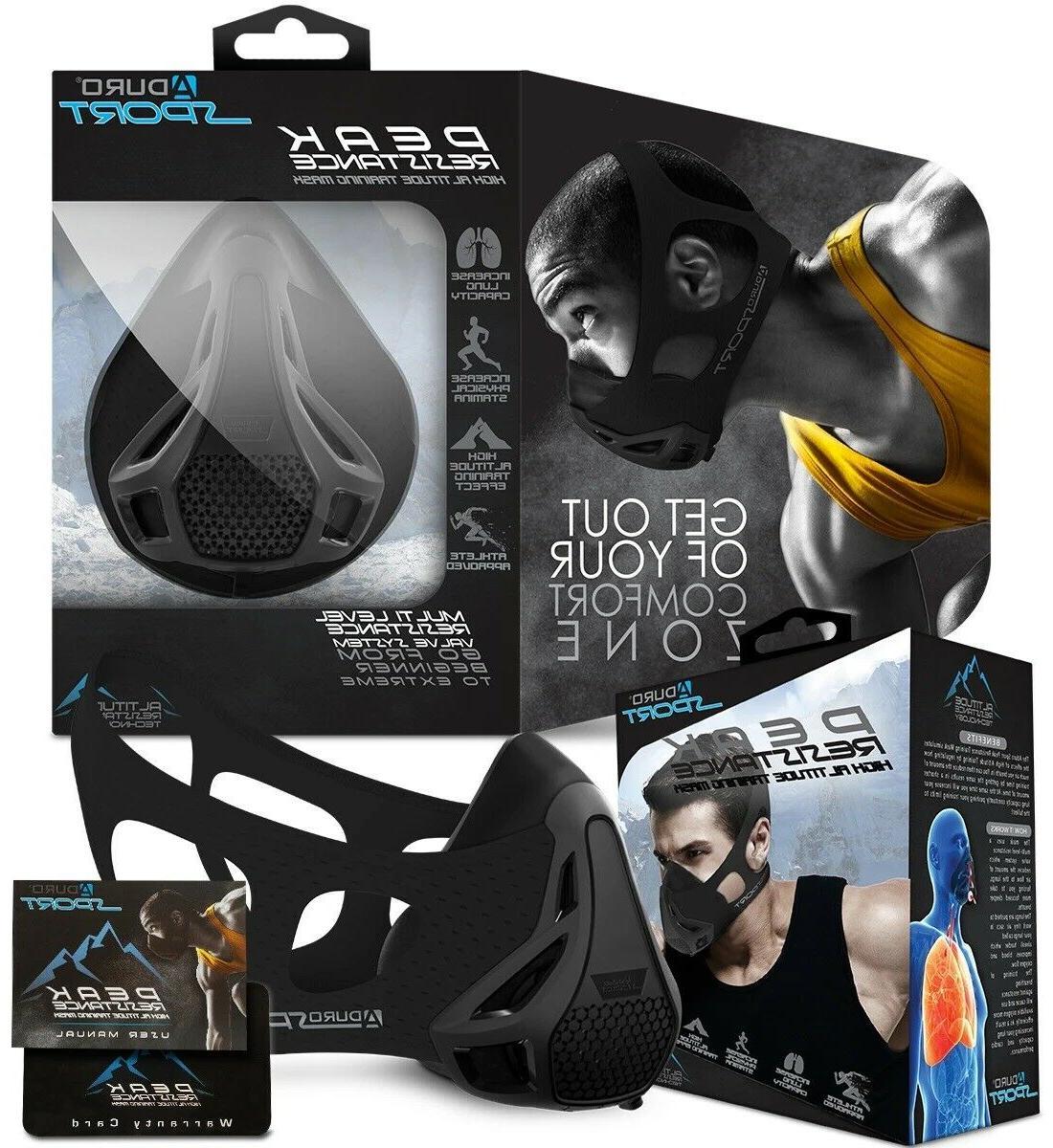 peak resistance workout training mask high altitude