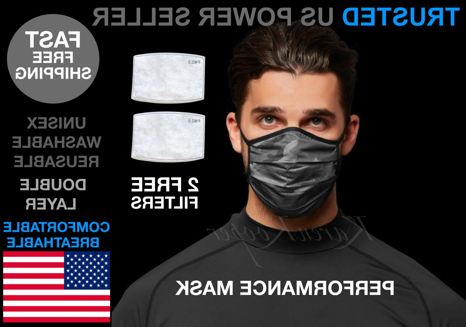 performance working out face mask breathable washable