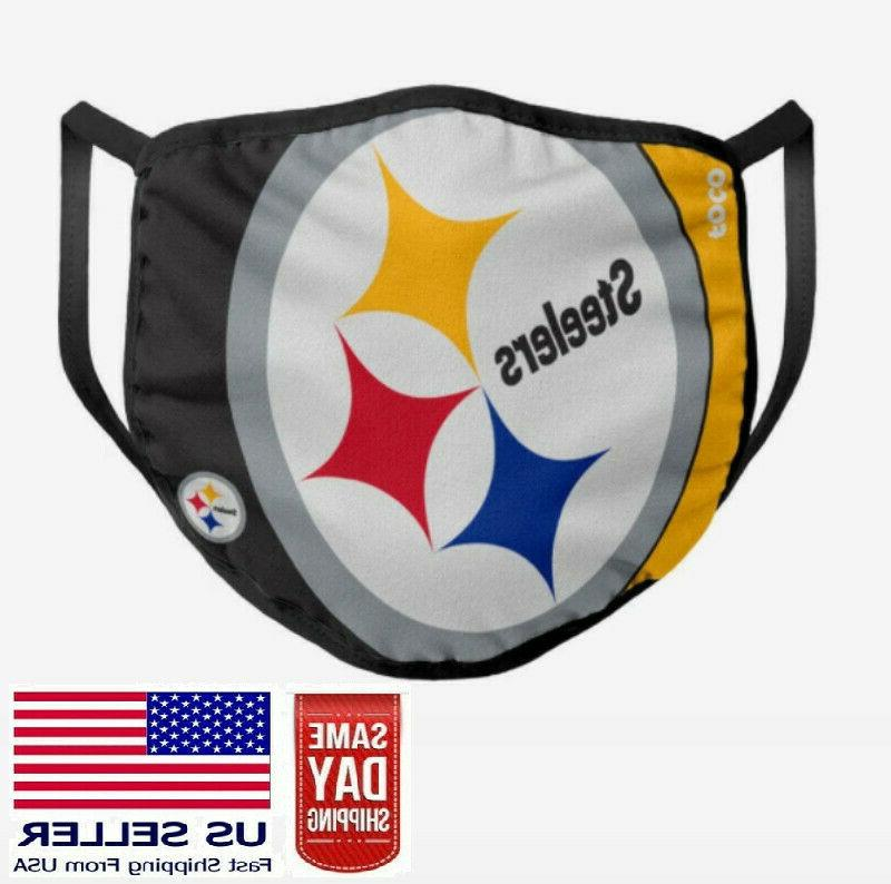 pittsburgh steelers face mask washable cotton nfl