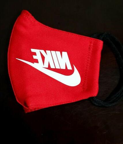 red nike face mask fabric washable reusable