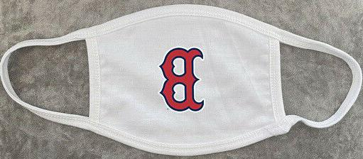 red sox logo white custom protective face