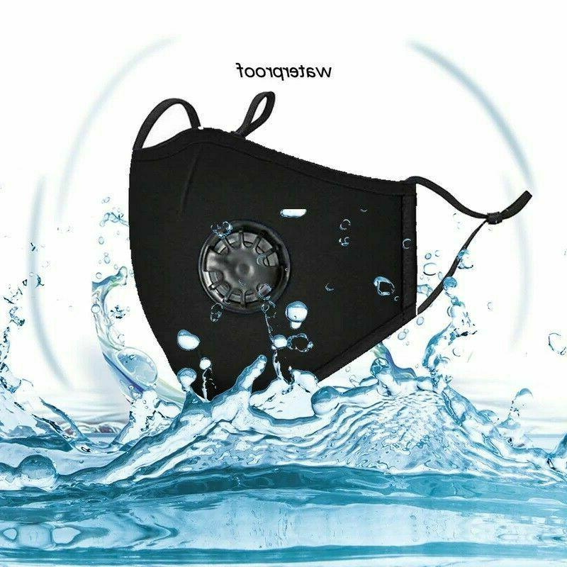 Reusable Face Mask Guard With Air Breathing Valve & PM2.5