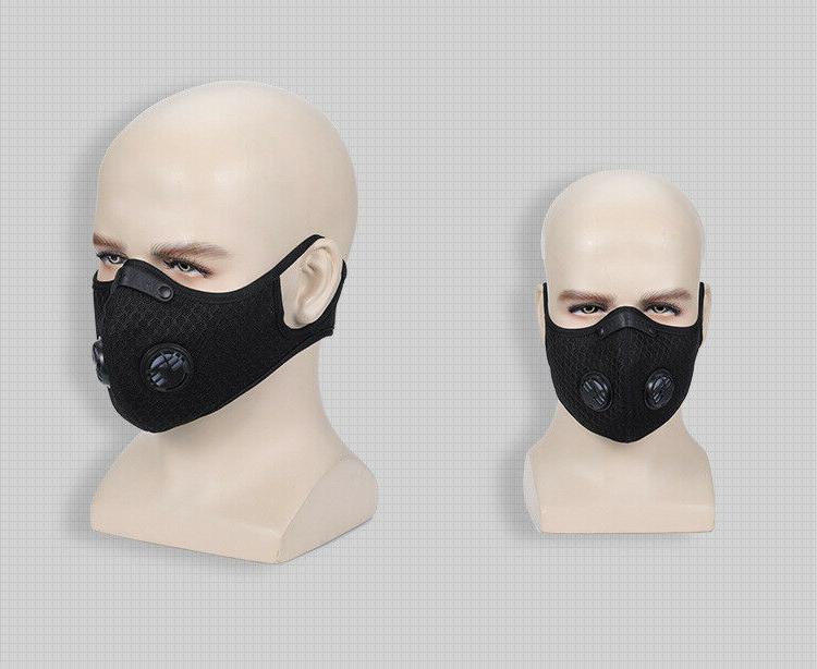 Reusable Face +1 Carbon + Exhalation Valve Black
