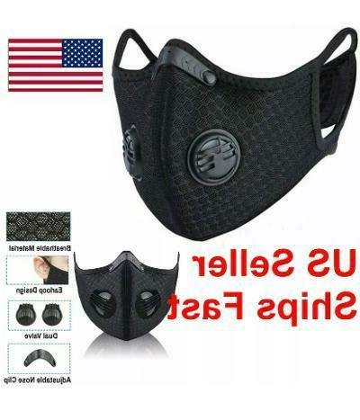 Reusable Cycling Mask with PM 2.5 Filter