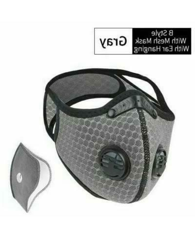 reusable cycling half face mask with activated