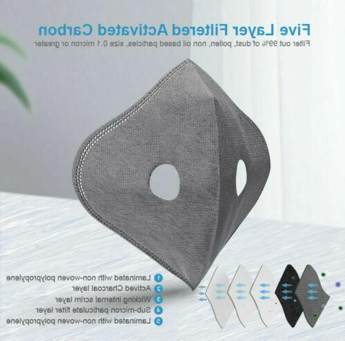Reusable Air Breathing Valve Mask Cover with Carbon