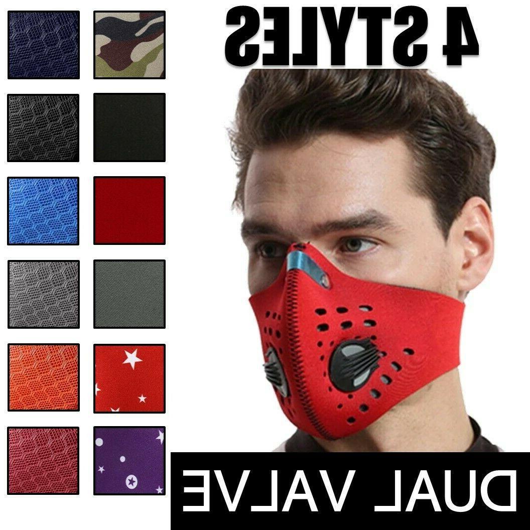 reusable dual air breathing valve face mask