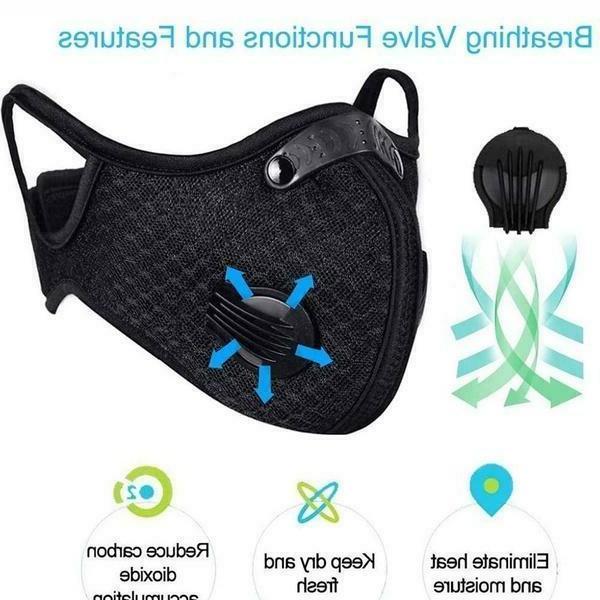 Mesh Mask Filter Breathing Valves