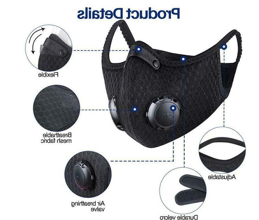 Mesh Sports Cycling Mask with Active Filter & Dual Valves