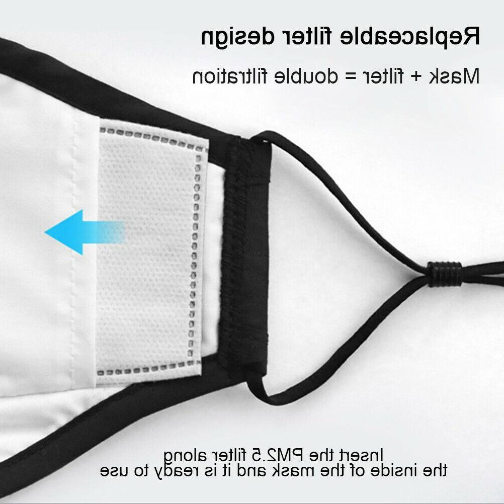Reusable Face Mask Filter Mouth Pocket, Washable, unisex, USA Made