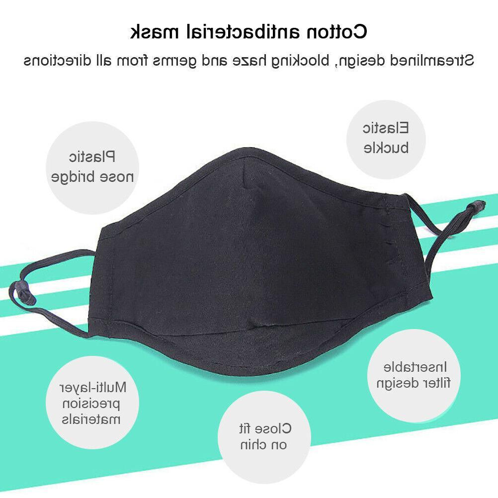Reusable Face Mask pm2.5 Filter Pocket, Washable, unisex,