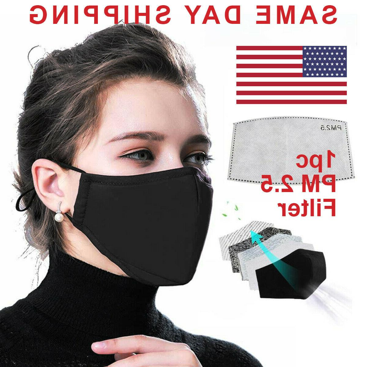 reusable face mask pm2 5 filter mouth