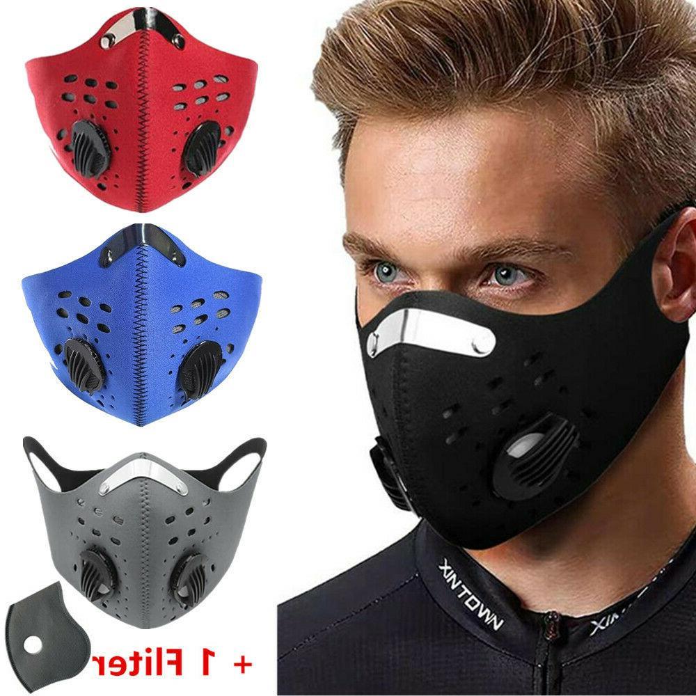 Reusable Face Mask Valves Neoprene Outdoor Cycling Riding Ac