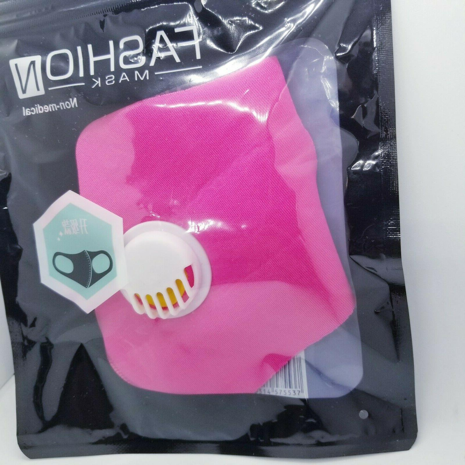 Reusable Face Cover Filter Valve Breathable Mask Rose